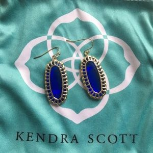 Kendra Scott Dayla Earrings in Cobalt Blue